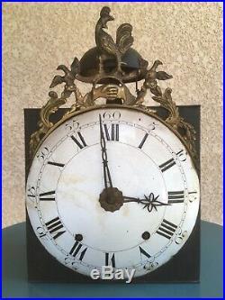 Mécanisme Mouvement Pendule au Coq Horloge Comtoise Fin XVIII ème Fraternité
