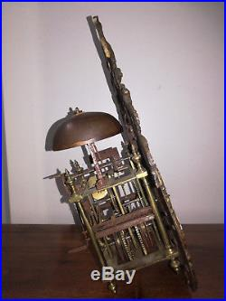 Mécanisme d'horloge comtoise lanterne pendule xviii eme