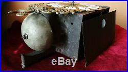 Mécanisme d'horlogerie à cartouches et à une aiguille d'époque Régence