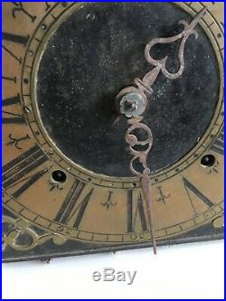 Mecanisme de comtoise rare début 18 eme de 21,5 cm sortie du Grenier