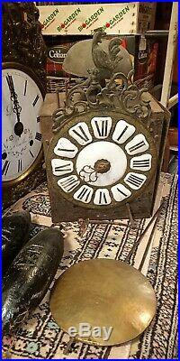Mécanisme horloge comtoise XVIIIèm Siècle Old Clock 18 th Century
