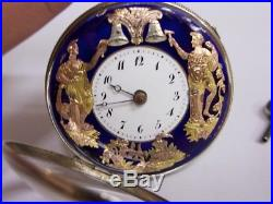 Montre à coq sonnerie automates Jacquemart Verge automaton Fusee Repeater watch