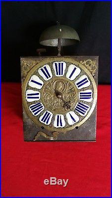 Mouvemennt d'horloge à cartouches à une aiguille 18ème siècle