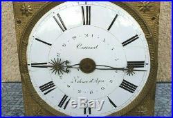 Mouvement De Comtoise 30 Jours / Mensuel Calendrier Début Xix° Siècle
