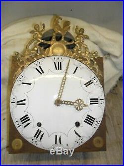 Mouvement comtoise 18 ém au coq dans son jus, horloge, pendule, mécanisme