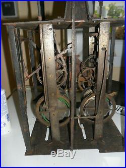 Mouvement comtoise 18 éme 1 aiguille dans son jus, horloge, pendule, mécanisme