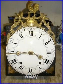 Mouvement comtoise 18 éme au coq dans son jus, horloge, pendule, mécanisme