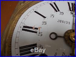 Mouvement comtoise 3 cloches 3 aiguilles avec quantieme et réveil Junius Gondy