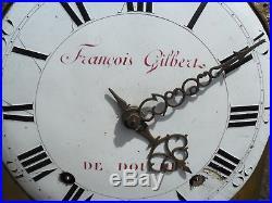 Mouvement comtoise XVIII éme au coq, dans son jus, horloge, pendule, mécansime