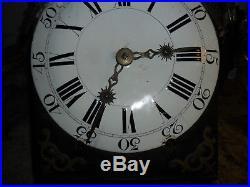 Mouvement comtoise XVIII éme mensuel dans son jus, horloge, pendule, mécanisme