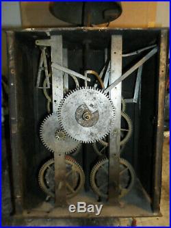 Mouvement comtoise coq XVIII éme Mensuel à cheville trés rare, horloge, pendule