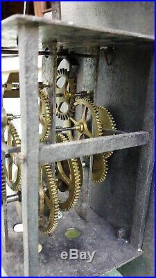 Mouvement comtoise coq début 18 éme dans son jus, horloge, pendule, mécanisme