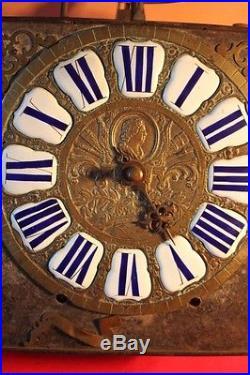 Mouvement d'horloge à cartouches à une aiguille 18ème