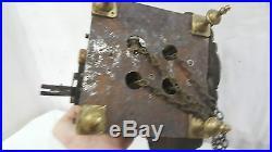 Mouvement de COMTOISE a CARTOUCHES au COQ XVIIIe 18e BRONZE email Horloge Art L
