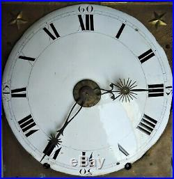 Mouvement mécanisme horloge XIXe mensuel 30 jours échappement arrière
