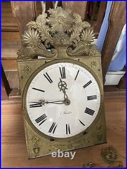 Mouvement mécanisme horloge comtoise XIXe mensuel 30 jours