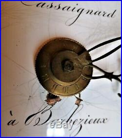 Mouvement mécanisme horloge comtoise XIXe mensuel 30 jours refA29/4