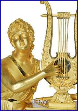 PENDULE APOLLON. Kaminuhr Empire clock bronze horloge antique cartel uhren