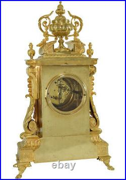 PENDULE BRONZE. Kaminuhr Empire clock bronze horloge cartel ancien portique