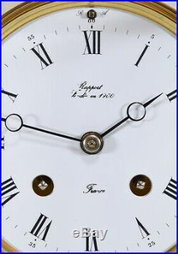 PENDULE CAGE EPEE. Kaminuhr Empire clock bronze horloge antique uhren cartel