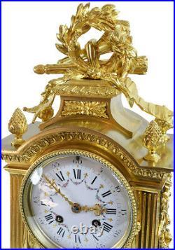 PENDULE CAGE Kaminuhr Empire clock bronze horloge antique cartel uhren