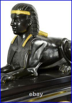 PENDULE EGYPTE Kaminuhr Empire clock bronze antique cartel portique horloge