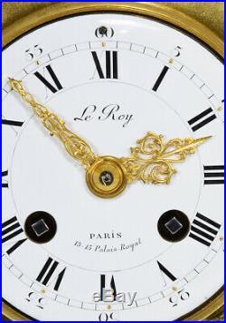 PENDULE LEROY. Kaminuhr Empire clock bronze horloge antique cartel uhren