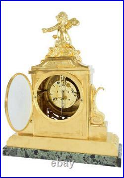 PENDULE LOUIS XV. Kaminuhr Empire clock bronze horloge antique uhren cartel
