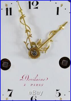 PENDULE LOUIS XVI DEVILAINE. Kaminuhr Empire clock bronze horloge antique uhren