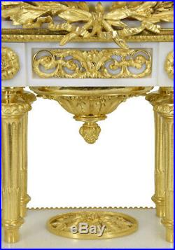 PENDULE LOUIS XVI. Kaminuhr Empire clock bronze horloge antique uhren cartel