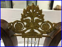 PENDULE LYRE XIXe 19e Bois MARQUETERIE Mouvement VALOGNE Paris Bronze dore Art