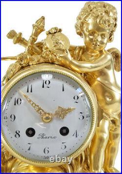 PENDULE PAIX. Kaminuhr Empire clock bronze horloge antique pendule uhren