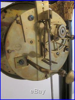 Pendule Portique Clock Kaminuhr Ecole Boulle Bronze XIX Eme Napoleon