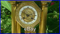 Pendule Portique En Bronze Epoque XIX Eme Brocot N°1310