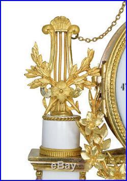 PENDULE PORTIQUE LOUIS XVI. Kaminuhr Empire clock bronze horloge cartel ancien