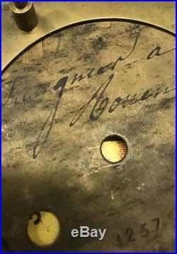 PENDULE PORTIQUE SPIRALE. Kaminuhr Empire clock bronze horloge antique uhren
