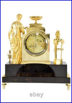 PENDULE SAPPHO. Kaminuhr clock bronze horloge antique uhren cartel empire