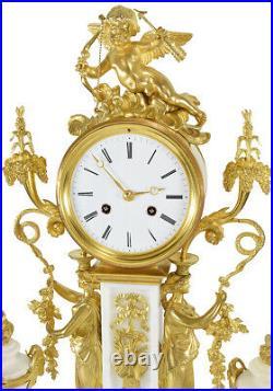 PENDULE VESTALE. Kaminuhr Empire clock bronze horloge antique pendule uhren