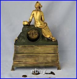 PENDULE en Bronze Doré Nymphe des Sources dEpoque Empire vers 1810/1820