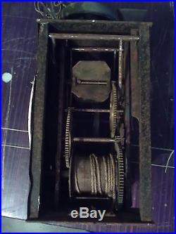 Petit Mouvement Ancien/comtoise/pendule/horloge 1 Marteau Avec Cloche/