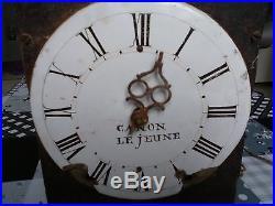 Petit Mouvement Ancien/comtoise/pendule/horloge 1 Marteau Avec Cloche Le Jeune