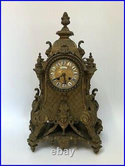 Pendule 19eme Napoleon III Bronze Dore Cartel Philippe Ft Palais Royale C2610