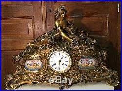 pendule ancienne bronze maill e guyenot horloges pendules. Black Bedroom Furniture Sets. Home Design Ideas