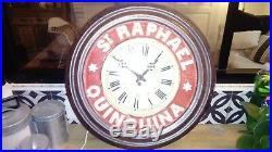 Pendule Ancienne émail St-Raphaël Horloge très bon état