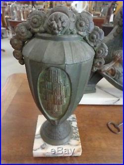 Pendule Art Deco 1925 De G Limousin Avec Pendants