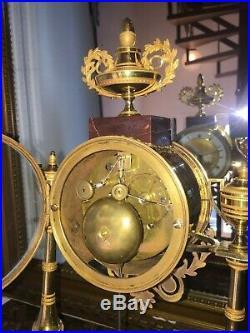 Pendule Bronze Au Mercure Empire, Exceptionnelle, Ht 42. Shipping Ups