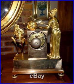 Pendule Bronze Dore