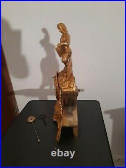 Pendule Bronze Dore 19e