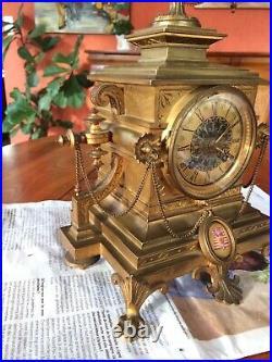 Pendule Bronze Doré Napoléon Égypte