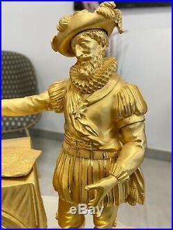 Pendule Bronze Empire Époque 1800/1815